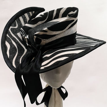 samari-sinamay-and-fabric-double-crown-with-cut-up-brim 4 col